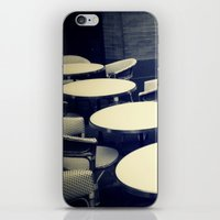 outdoor iPhone & iPod Skins featuring Outdoor Cafe Chairs by ELIZABETH THOMAS Photography of Cape Cod