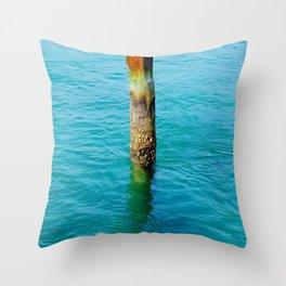 Dock Pylon Throw Pillow
