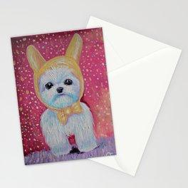 maltese bunny Stationery Cards