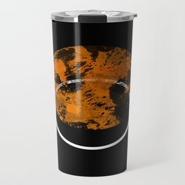 Collusion - Abstract in black, gold and white Travel Mug