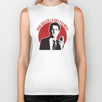 laura palmer Biker Tanks featuring Who killed Laura Palmer twin peaks by Buby87