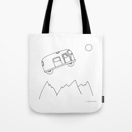 Bus to the moon Tote Bag