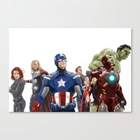 avenger Canvas Prints featuring Avenger by Carrillo Art Studio