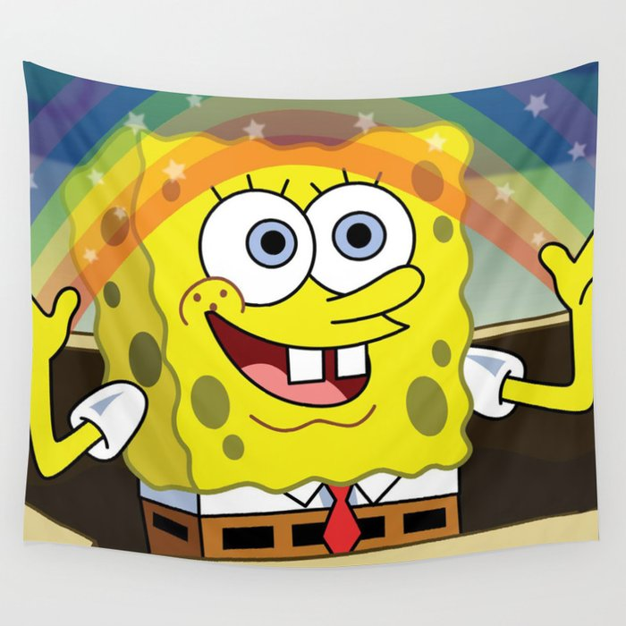 Spongebob Imagination Wall Tapestry by nostaclassic | Society6