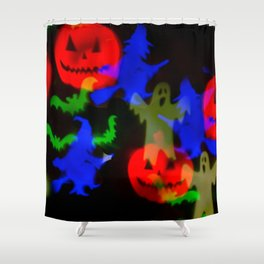 Ghosts And Ghouls Shower Curtain