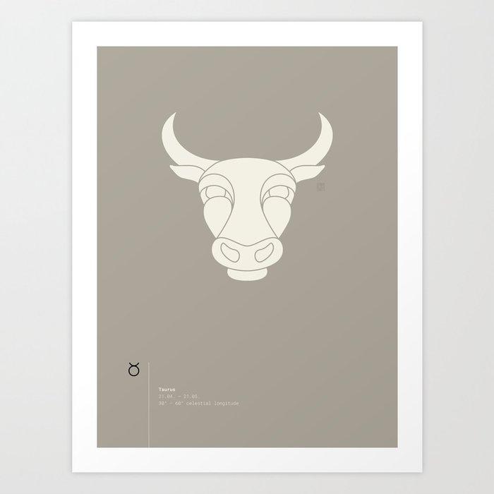 Taurus Star Sign Art Print