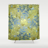 olivia joy Shower Curtains featuring Olivia by Lisa Argyropoulos