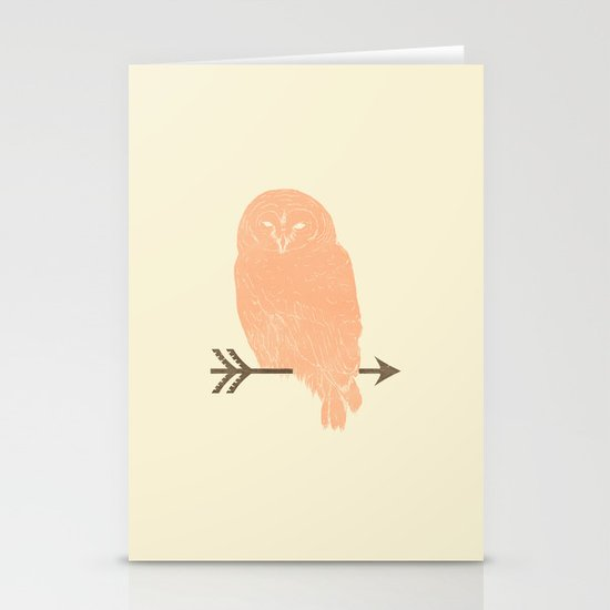 Owl and Arrow Stationery Cards