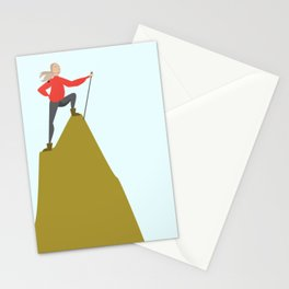 Mountain Woman Illustration Stationery Cards