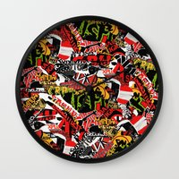 bands Wall Clocks featuring BANDS by DIVIDUS