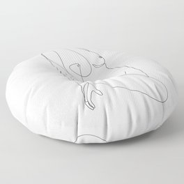 Single Nude Floor Pillow