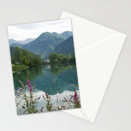 Mountain reflection  on lake Stationery Cards