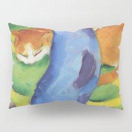 """Franz Marc """"Children's Picture: Cat behind a Tree (Kinderbild: Katze hinter einem Baum)"""" Pillow Sham"""