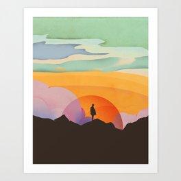 I Like to Watch the Sun Come Up Art Print