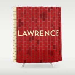 LAWRENCE | Subway Station Shower Curtain