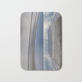 View of the Sky in an Urban Metal Slot Canyon Bath Mat