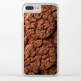 Group of dark chocolate cookies Clear iPhone Case