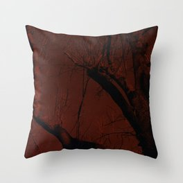 all red Throw Pillow