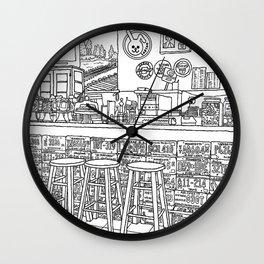 Arizona Flagstuff Diner - Line Art Wall Clock