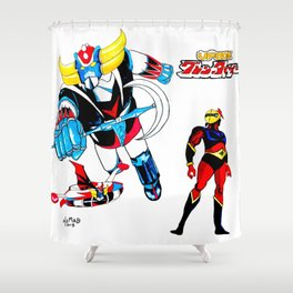 grendizer ufo Shower Curtain
