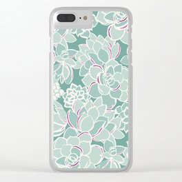 Succulents Clear iPhone Case