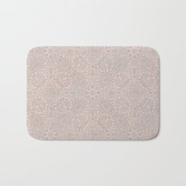 Damask Pattern Smoke Rose Bath Mat