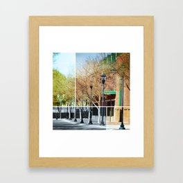 Sidewalks of Augusta Framed Art Print