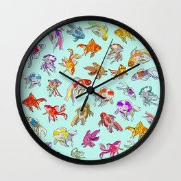 Aquarium Gold Fish Water Wall Clock