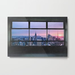 New York City Skyline Views Metal Print