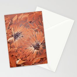 Brown flower Stationery Cards