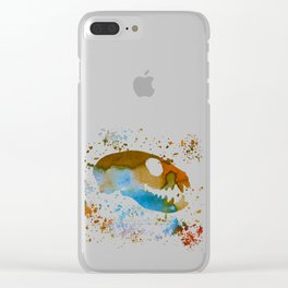 Meerkat Skull Clear iPhone Case