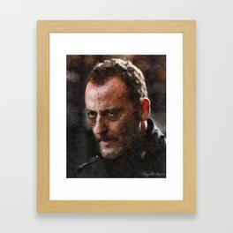 French Actors - Jean Reno Framed Art Print