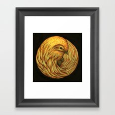 Bird Spiral Framed Art Print
