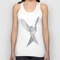 calcifer Tank Tops featuring Hummingbird  by Calcifer