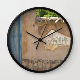 Siempre Pueblo Wall Clock