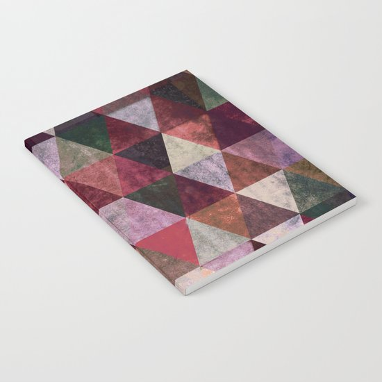 Abstract #480 Grunge Triangles #2 Notebook