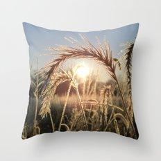 Wheat Sunrise Throw Pillow