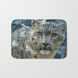 Snow Leopard Bath Mat