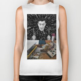 The Collage Artist Biker Tank