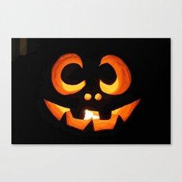 Vector Image of Friendly Halloween Pumpkin Canvas Print