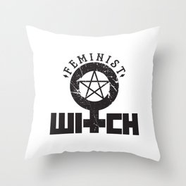 Feminist Witch Throw Pillow