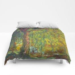 """Claude Monet """"Weeping Willow"""" Comforters"""