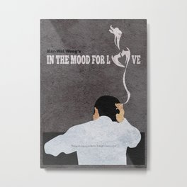 In the Mood for Love Alternative Minimalist Movie Poster Metal Print