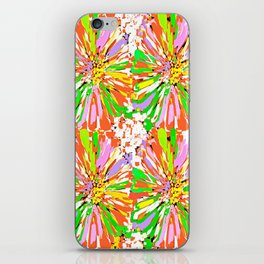 Dahlia Colorburst Abstract #1 iPhone Skin