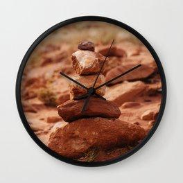 Desert Cairn Wall Clock