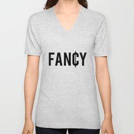 Fancy Cent Symbol Typography Unisex V-Neck