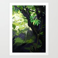 Forest painting Art Print