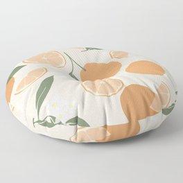 Modern Abstract Orange Pattern Floor Pillow