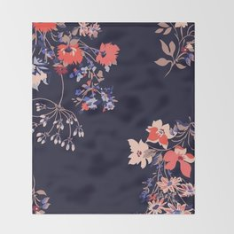 Colorful Night Roses Throw Blanket