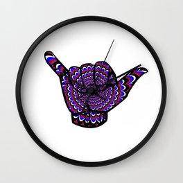 Hang Loose BJJ Shaka T-Shirt Psychedelic Jiu Jitsu Tee Wall Clock